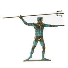"God Poseidon Bronze Statue Neptune King of the Sea 7.4"""