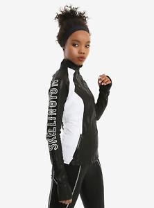Disney The Nightmare Before Christmas Jack Bat Track Jacket Black White JRS S-XL