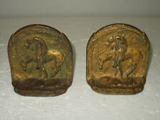 Vintage Native American End Of The Trail Bronze Book Ends