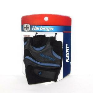 Men's Harbinger Flexfit Weightlifting Gloves Size Medium Black/Blue NEW