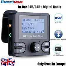 Digital Bluetooth In-Car DAB DAB+ Radio Receiver FM Transmitter Adapter +Antenna