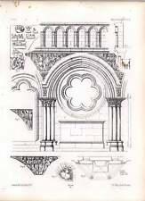 Gothic Gelnhausen Elevation Of Centre Bay Jube With Altar Sculptures