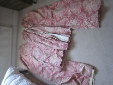 Two Pairs Curtains integral linings & rufflette pelmet Giovanni Design Rose pink