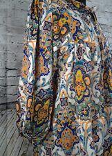 Fashion fuse casual boho Chic blouse Multi-colors print, 3/4 Sleeve size Medium