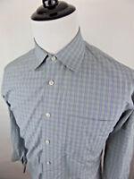 John W. Nordstrom Men's Button Front Dress Shirt Checks size 16.5-34 Cotton