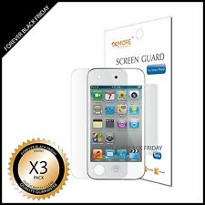 iPod Touch 4 Screen Protector 3x Anti-Scratch HD Clear Front