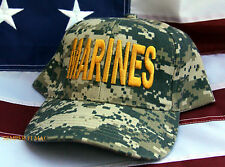 US MARINES SEAL DIGITAL CAMOFLAGUE HAT PIN VETERAN WOWMH DIGITAL CAMO USS USMC