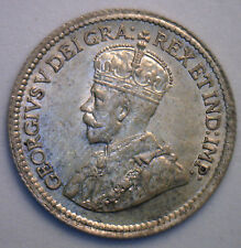1919 George Silver 5 Cent Small Nickle Canadian Canada Coin