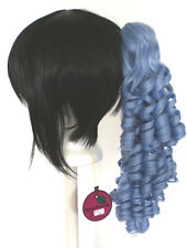 18'' Ringlet Curly Pony Tail Clip Saxe Blue Cosplay Lolita Wig Clip Only NEW