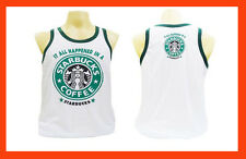STARBUCKS Men's Sport Running Boxing Vest Singlet Tank Tops T-Shirt Size XL