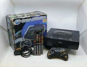Sega Saturn PAL Video Game Console Bundle With 4 Games