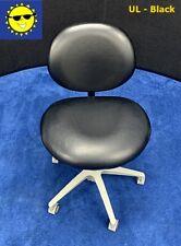 Pelton Amp Crane Dental Doctor Stool Black Ultraleather Upholstery