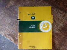 John Deere 1710 Mulch Tiller Parts Catalog Manual Book Original Pc-1542