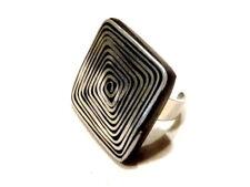 Bijou aluminium et composite bague carré taille musicienne ring