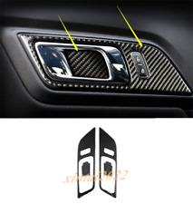Real Carbon Fiber Inner Door Handle Frame Cover Trim For Ford Mustang 2015-2020