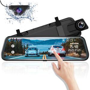 AZDOME PG-02 FHD 10 Zoll Dashcam Rückspiegel Auto Touchscreen Dual Lens Kamera