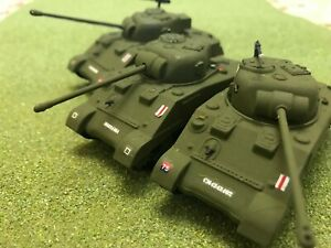 3nr Painted 1/72 Armourfast Sherman Firefly tanks