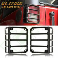 2x Tail Light Guard Cover Rear Lamps Trim Cover For 2007 16 Jeep Wrangler Jk Vip Fits Jeep