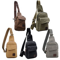 Men's Casual Canvas Vintage Shoulder Hiking Crossbody Bicycle Bag Messager bags