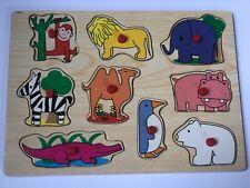 Wooden Animal Puzzle 9 Pieces