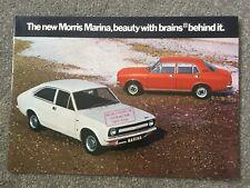 MORRIS MARINA RANGE orig 1971 UK Mkt Sales Brochure  in Excellent condition