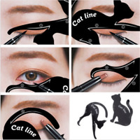 Pro 2PCS Women Cat Line Eye Makeup Tool Eyeliner Stencils Template Shaper Model