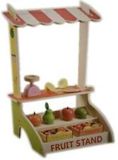 NEW Green Toy Wooden Kids Table Top Fruit & Stand with Accessories