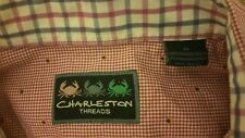 Charleston Threads Long Sleeve PINK gingham Button Down XL RN75670