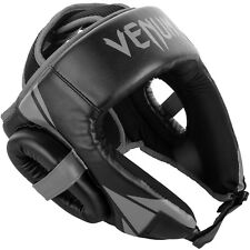Venum Challenger Open Face Head Guard - Black/grey With Mouthguard