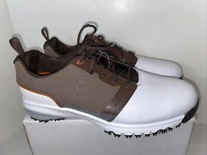 FootJoy Contour Golf Shoes, Men's Size 8M - Brown/White