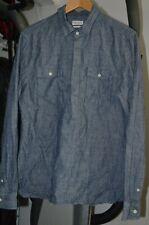 Mens All Saints button up long sleeve denim style shirt