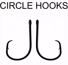 10 x SIZE 10/0 KOIKE HIGH CARBON EXTRA STRONG CIRCLE SEA FISHING TACKLE HOOKS