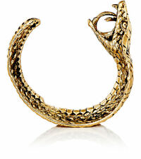 NIB Authentic SAINT LAURENT Paris YSL ANIMALIER COBRA Cuff Statement BRACELET M
