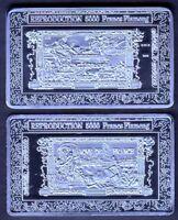 ★★★★ JOLI MEDAILLE PLAQUEE ARGENT ● BILLET DE 5000 FRANCS FLAMENG ★★★