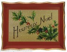 TABLETT Fröhliche Weihnacht ★ Heureux Noël ★ SERVIERTABLETT Tray Plateau Noël