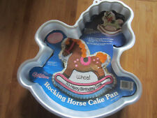 Wilton Vintage Cake Mold 1984 Rocking Horse gentle lamb merry go round pony