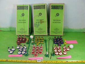 vintage subbuteo mixed lot football teams x6 collectable plastic men figures1664