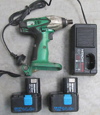 1 x Hitachi WR14DM 14.4V Impact Wrench Charger 2 x 2.0Ah Battery/ Works Perfect
