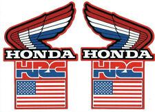 HONDA HRC US TEAM RADIATOR SHROUD CR 250 Vintage Stickers / Decals die lot of 2