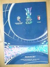 UEFA CUP PROGRAMME 2007- BOLTON WANDERERS v SC BRAGA (ORG*,EXC)