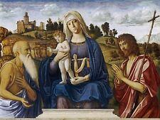 CIMA DA CONEGLIANO ITALIAN MADONNA CHILD ST JEROME JOHN BAPTIST PRINT BB5113A