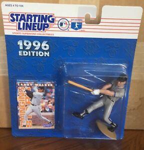 1996 Larry Walker Colorado Rockies Starting Lineup in pkg w/ Baseball Card