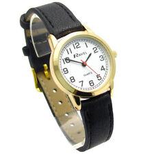Ravel Ladies Easy Read Quartz Watch Black Strap White Face R0132.12.2