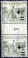 """FRANCE N° 164 NEUF** PAIRE AVEC """"PONT"""" MILLÉSIMÉ7 Variété """"SURCHARGES DÉPLACÉES"""""""