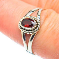 Garnet 925 Sterling Silver Ring Size 8.75 Ana Co Jewelry R52029F