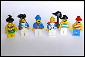 LEGO MiniFigures Vintage Classic Pirates and Soldiers 1980's Early Mini-Figs Lot