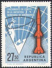 "Argentina 1966 Antarctic/Map/""Centaur"" Rocket/Space/Science 1v (n24398)"