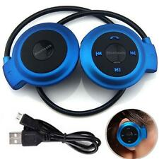 Sport Wireless Bluetooth 3.0 Headset Headphone Earphone Stereo Mini 503 Blue CB