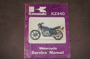 Kawasaki KZ440 Shop Manual 1982