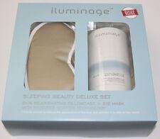 NEW iluminage Sleeping Beauty Deluxe Set Skin Rejuvenating Pillowcase + Eye Mask